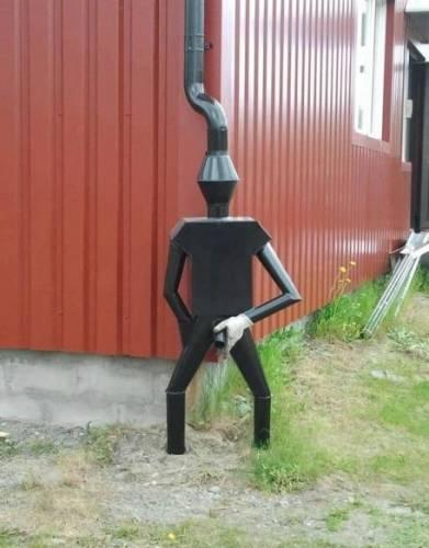 Фото приколы Креативный подход к стоку воды